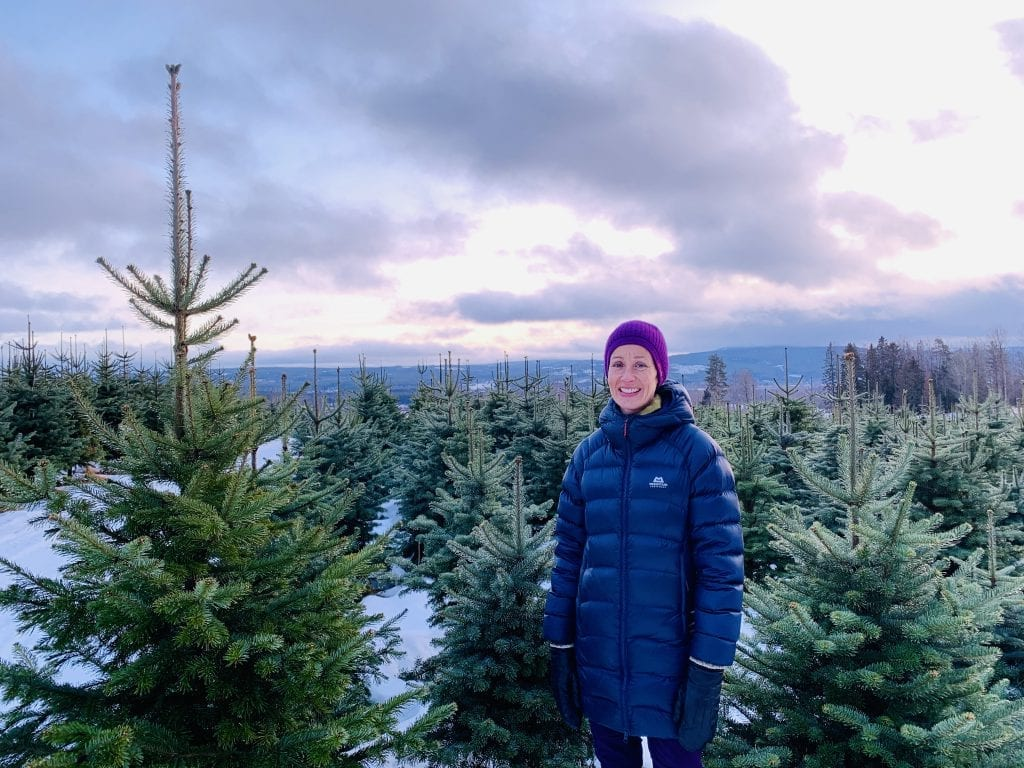 Juletre, Kjersti Rinde Omsted, Opaker gård Foto: Liv Rønnaug B. Lilleåsen