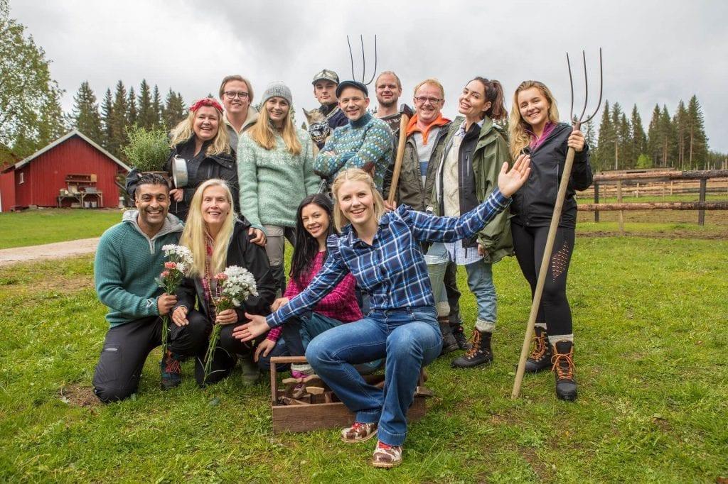 FARMEN FRA GRUE: Veldig snart kan du se denne gjengen fra Gjedtjernet gård i Grue. Foto: TV2