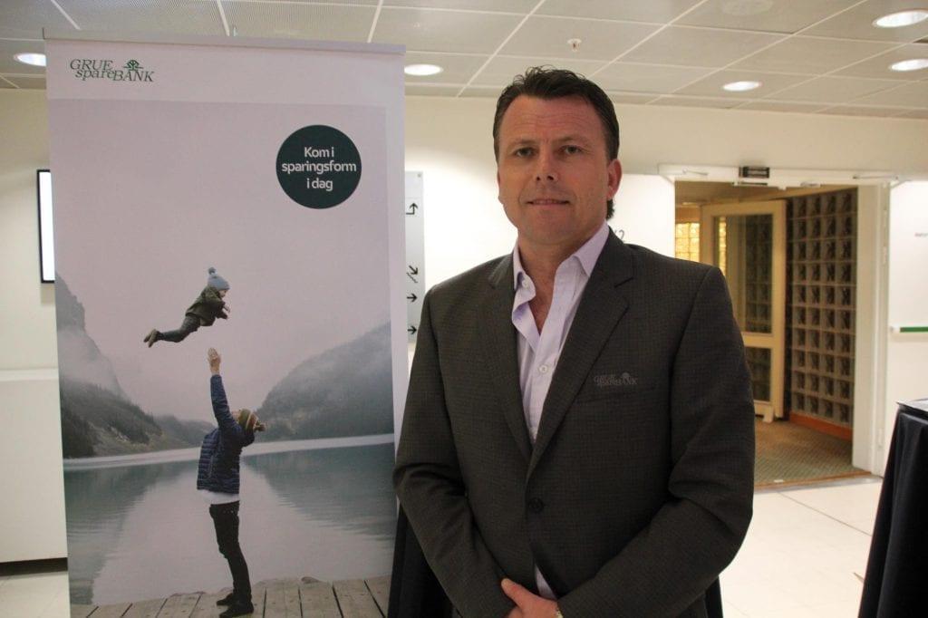 Erik Brinch Lund, markedssjef Grue sparebank. Arkivfoto