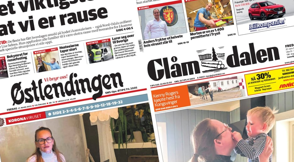 FÅR PENGER: Gjennom innovasjonsstøtteordningen til Medietilsynet får de to regionavisene i Solør totalt 1,7 millioner kroner i støtte. Foto: Skjermdump.