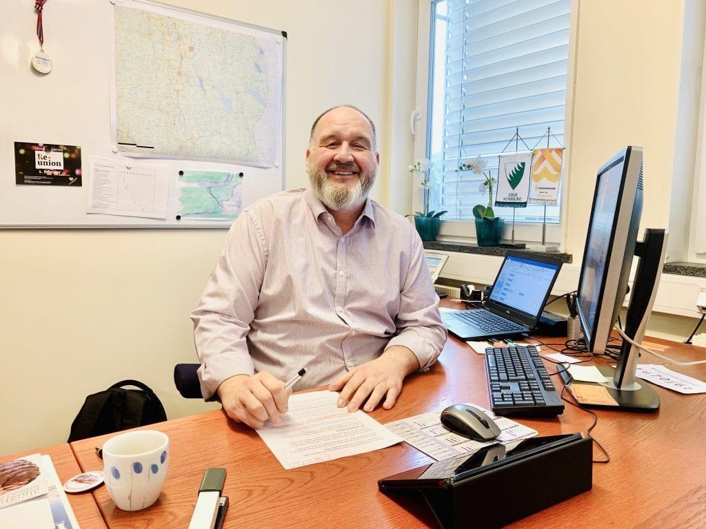 Rune Grenberg, ordfører i Grue Foto: Liv Rønnaug B. Lilleåsen