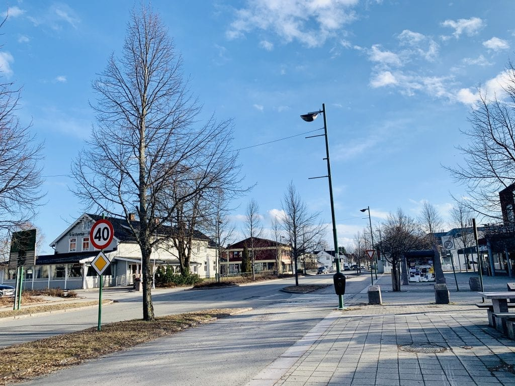 Kaffegata, Flisa. Foto: Liv Rønnaug B. Lilleåsen