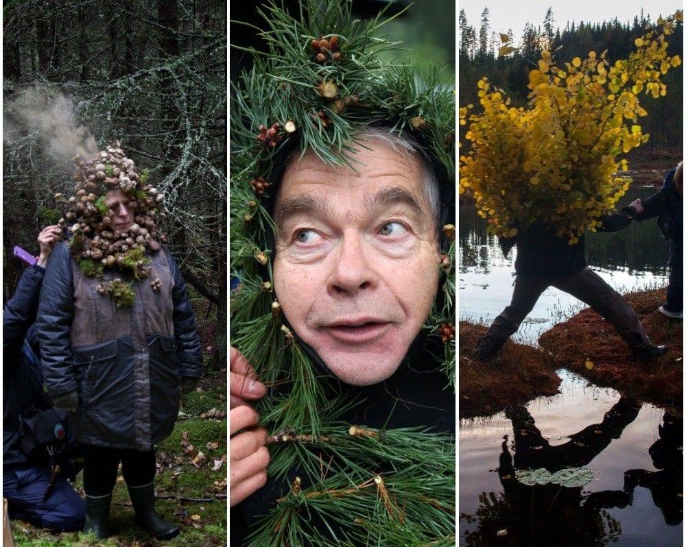 TILSKUDD: Sinikka Langeland, Einar Korbøl og Andreas Helgeberg er med i kunstprosjektet, og skal etter planen pryde Svullrya sentrum. Nå har prosjektet fått mer penger til å realisere alle planene. Fotomontasje: Hjorth/Ikonen/Nina Nordbø/NRK