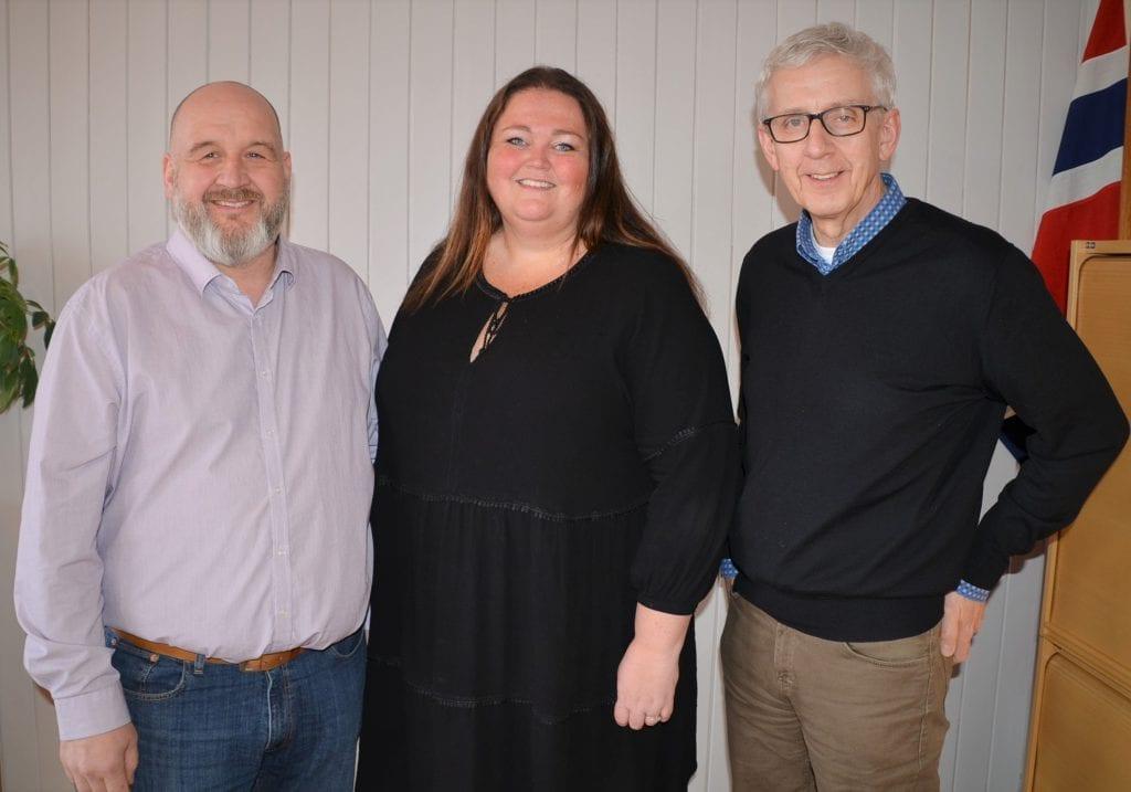 SAMARBEID: Siden utbruddet i Norge har de tre Solør-kommunene samarbeidet godt med ulike løsninger og tiltak. Her er Rune Grenberg, Kari Heggelund og Ola Cato Lie.