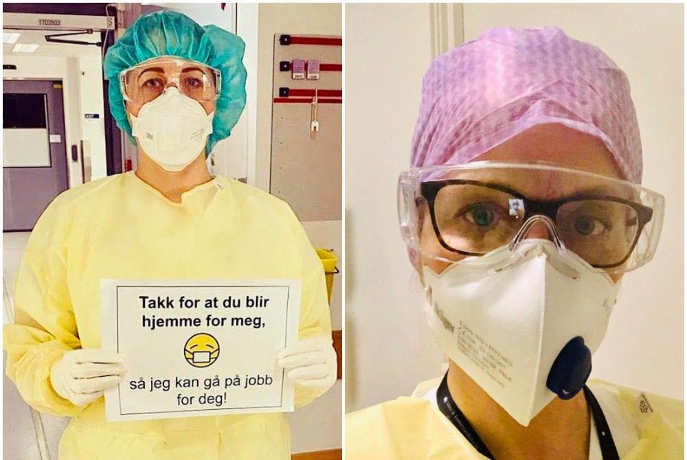 FØRSTELINJA: Linn Annika Nilsen fra Braskereidfoss (t.v.) og Anita Brattli fra Grue står midt i kampen for å redde de sykeste av de sykeste.