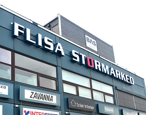 Flisa stormarked Arkivfoto