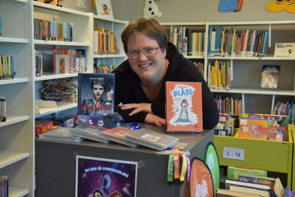 BLI MED: Bibliotekene i Solør er med i årets kampanje, og de håper mange barn og unge blir med også i år. Her er Kaja Svaan ved Grue folkebibliotek. Arkivfoto: Jørgen Mathiesen