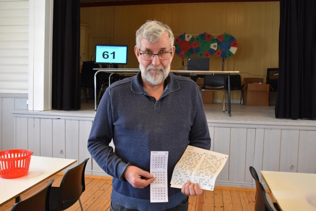 BINGO!: Onsdag 1. juli starter bingoen på Vidarvoll igjen. Primus motor Tore Øiseth håper mange tar turen til den siste bygdebingoen som er igjen i Solør.