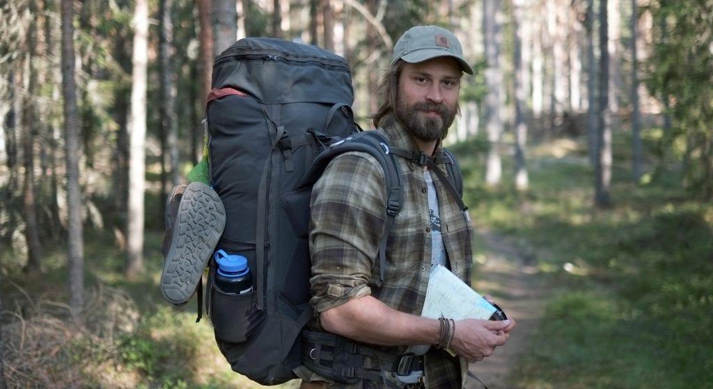 STORT POTENSIALE: Mathias Ekornås kommer fra Sunnmøre, og mener Finnskogen har et enormt potensiale. Dundas Explorer tar med primært byfolk på tur. Foto: Hanne Martinsen.
