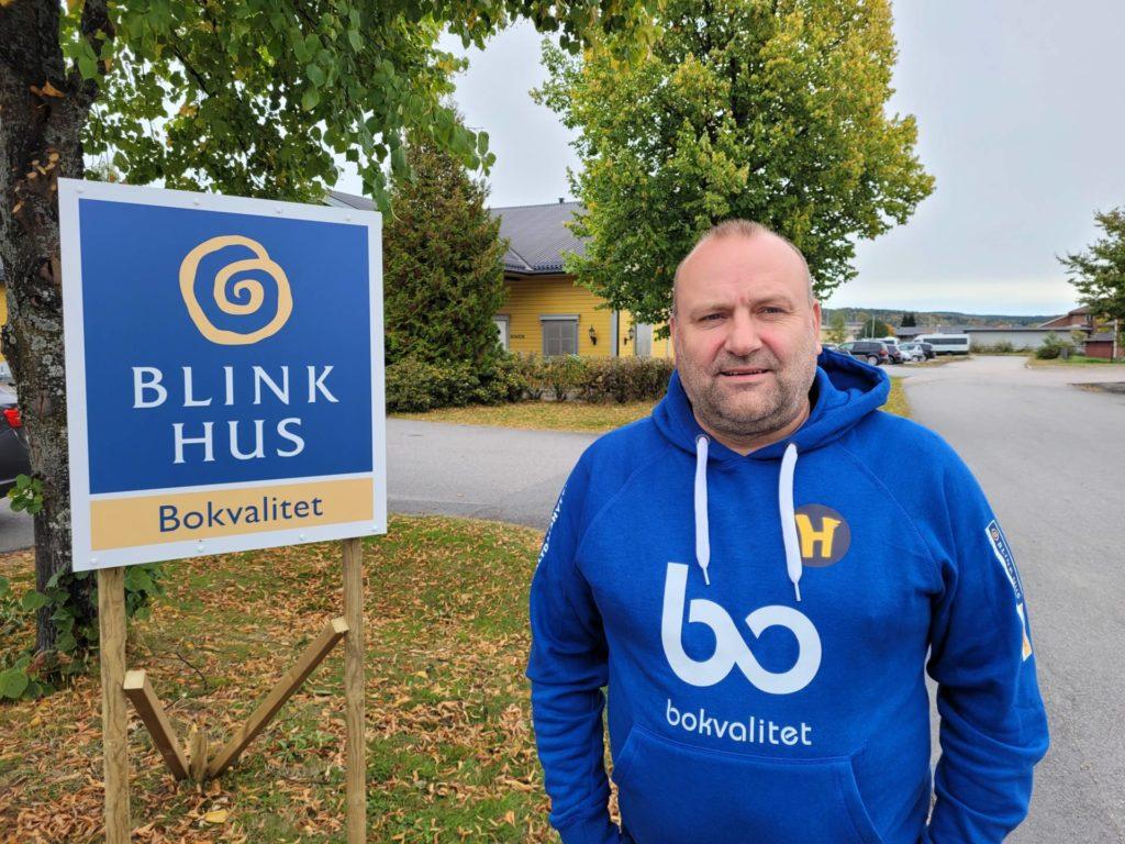NYTT SAMARBEID: Blink Hus etablerer seg med salgskontor på Flisa. Erik Holtet eier halve salgskontoret, som vil gi mange spennende jobber for Kompass Bygg AS i årene som kommer.