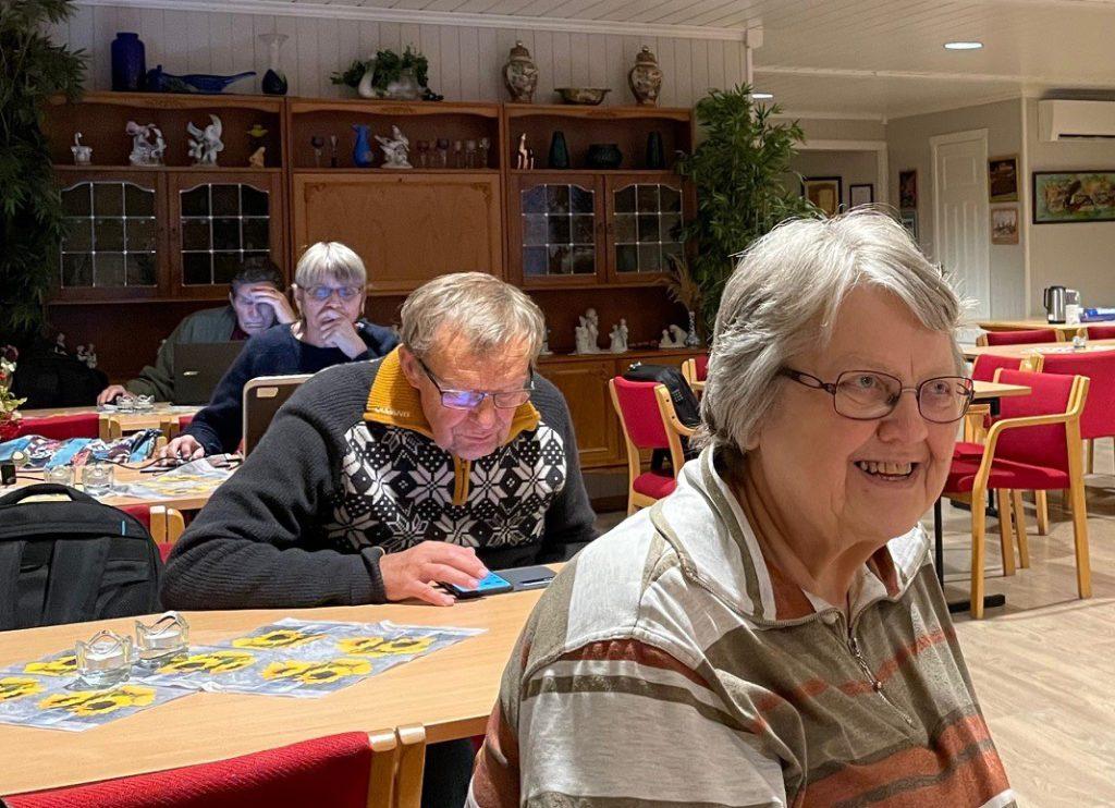 SLEKTSFORSKNING: Gunhild Grønvold er leder i Våler Historielag, og hjelper gjerne folk til å komme i gang med slektsgranskning.